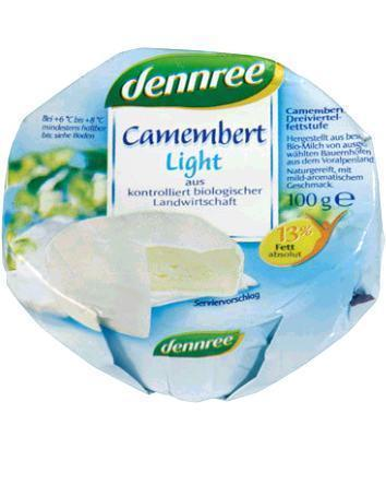 Camembert  Light 125g BIO 30%